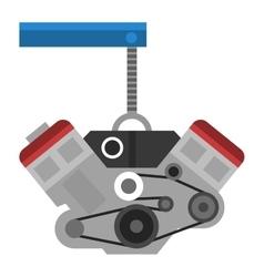 Engine icon car motor graphic symbol vector