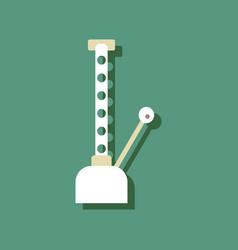 Flat icon design collection car crane in sticker vector