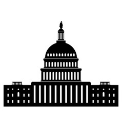 icon of capitol building vector image vector image