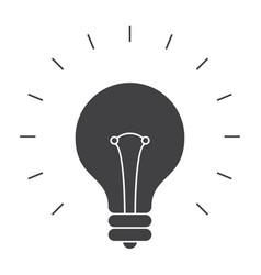 Light bulb silhouette vector