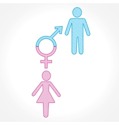 Male and female show equality concept vector image