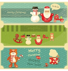 Merry christmas and happy new year posters vector