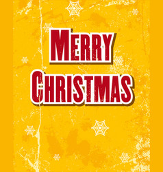merry christmas lettering on a wooden board vector image