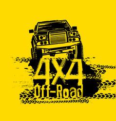 Off road image vector