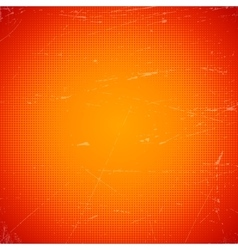 Old orange scratched card with halftone gradient vector