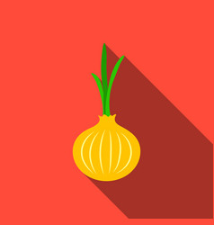 onion icon flate singe vegetables icon from the vector image vector image