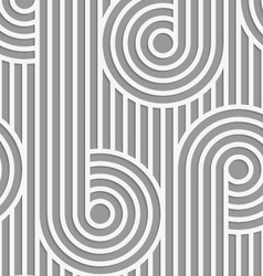 Paper cut out circles on continues stripes vector