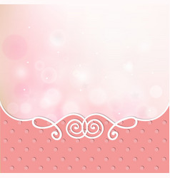 Pink card frame cover vector