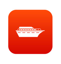 Powerboat icon digital red vector