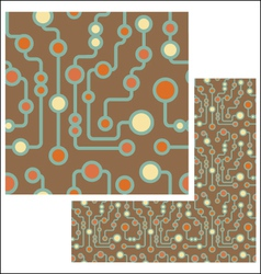 retro circuit seamless pattern vector image vector image