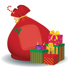 Santa Claus bag vector image vector image