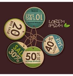 Set of ecology labels vector image