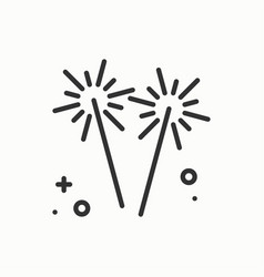 sparkler bengal fire icon party celebration vector image