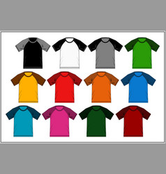 T shirt template raglan vector