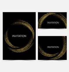 template design invitations vector image vector image