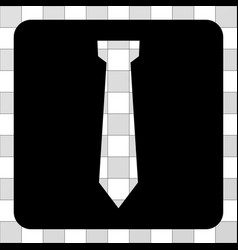 Tie rounded square vector