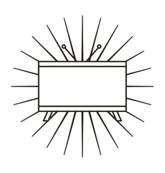 Tv plasma flat line icon vector