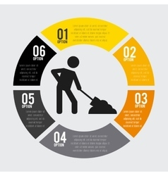 Under construction infographic isolated icon vector