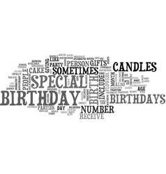 What is a birthday text word cloud concept vector