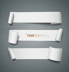White paper roll long collections design vector image vector image