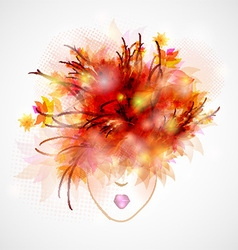 woman silhouette abstract hair vector image