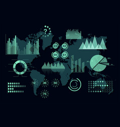 world analytics infographic set of transparent vector image vector image