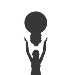 Business woman with lightbulb icon vector
