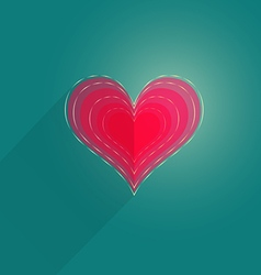 Single flat heart vector