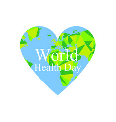 World health day the continents of the planet vector