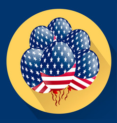 Usa patriotic balloons colored specially for the vector