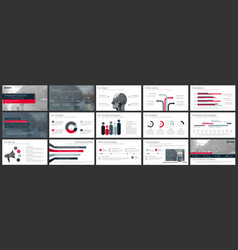 elements for and presentation templates vector image