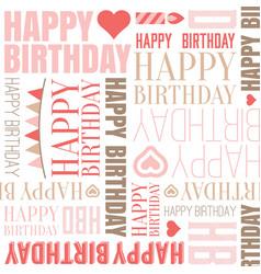 Happy birthday alphabet headline seamless vector