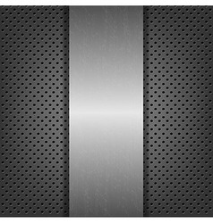Abstract Metal Background With Metal Plate vector image