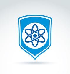 Science defending conceptual symbol icon with vector