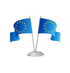 European union table flag isolated vector