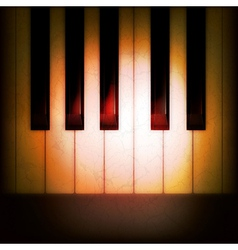 Abstract grunge music dark background with piano vector