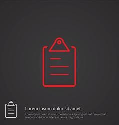 list outline symbol red on dark background logo vector image