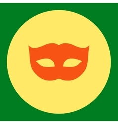 Privacy mask flat orange and yellow colors round vector
