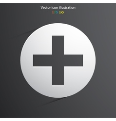 Plus web icon vector