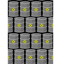 Barrel with biohazard seamless pattern gray metal vector