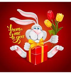 Rabbit Valentin vector image