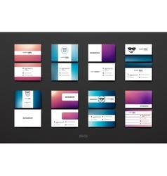 Set of design business card template in mardi gras vector