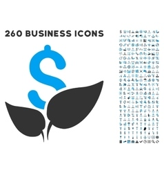 Agriculture startup icon with flat set vector
