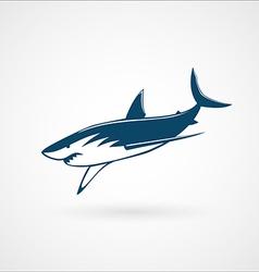 Shark fast moving logo sign vector image
