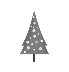 Tree in snow vector