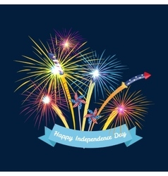 Happy 4th of july independence day design vector