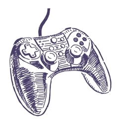Gamepad drawing vector