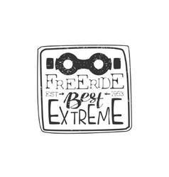 Best Freeride Vintage Label vector image