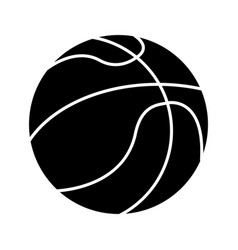 Basketball ball sport pictogram vector