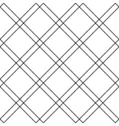 Black white diagonal check plaid seamless pattern vector image vector image